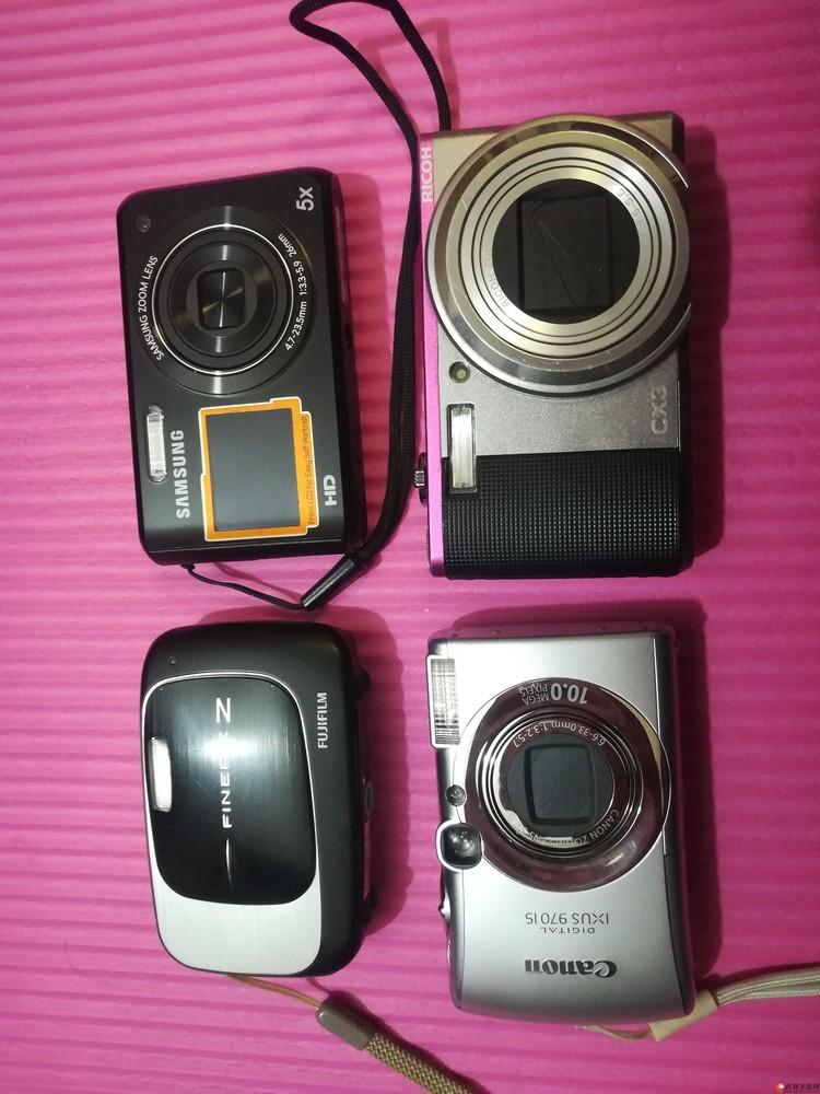 出四个自己用过的卡片数码相机