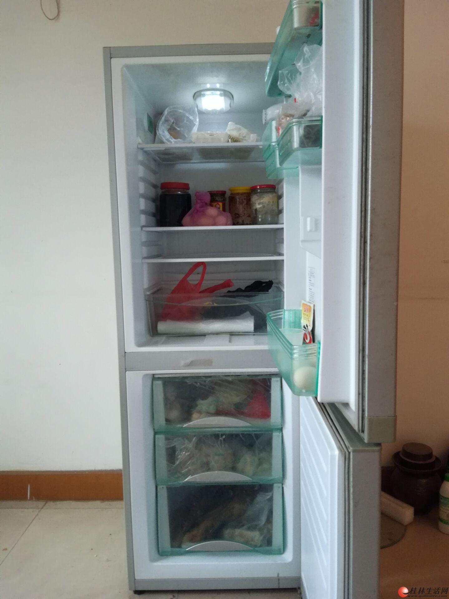 海尔双开门195l冰箱7成新