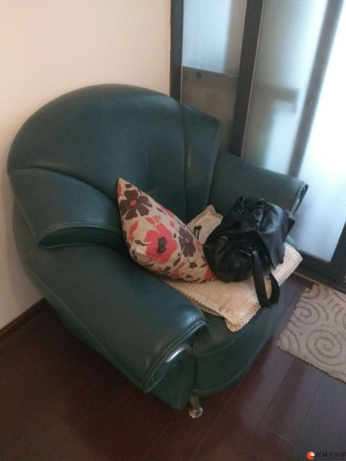低价出售一对自用皮沙发