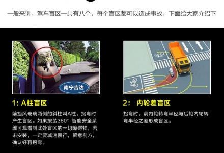 360度全景无缝行车记录仪1080P超清行车记录监控录像