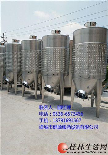 果酒发酵罐 桑葚酒发酵桶 酿酒设备