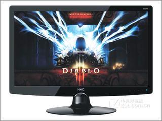 主流显示器,24寸宽屏液晶,HKC大品牌,完美效果
