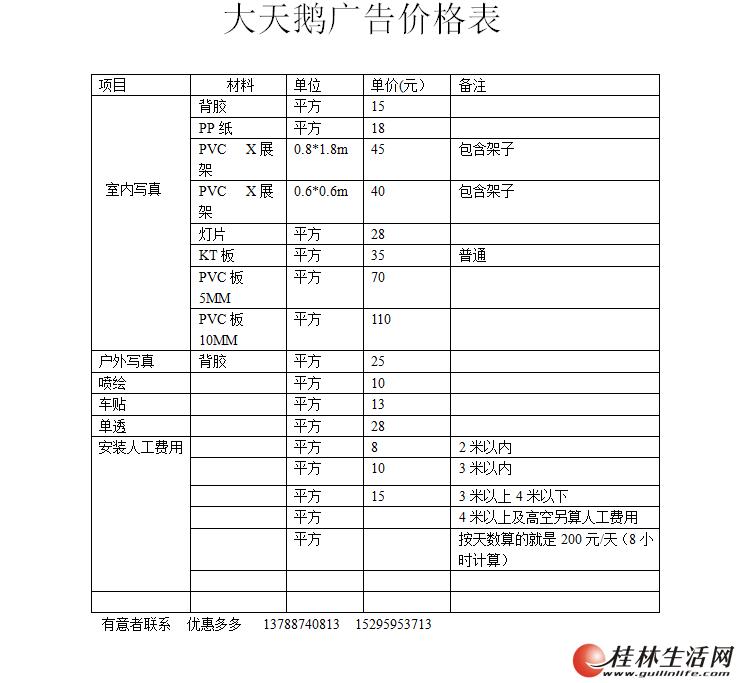 桂林秀峰区大天鹅广告装饰