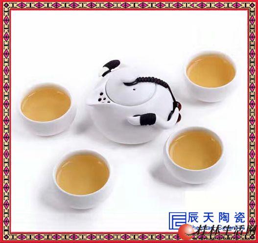 红茶茶具套装 玻璃陶瓷过滤双耳泡茶器 功夫茶壶花茶冲茶器