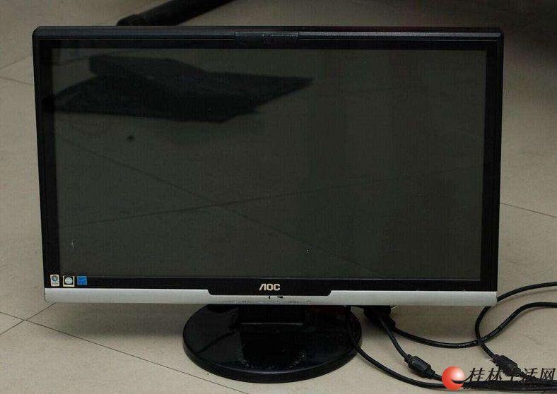 22寸冠捷AOC,做设计显示器,宽屏大品牌,低价转让