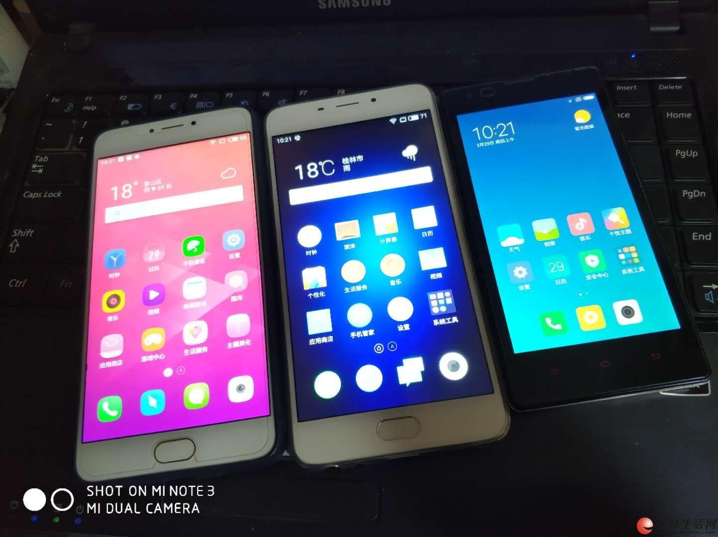 卖3台手机魅蓝note3,魅蓝E,红米1S出售