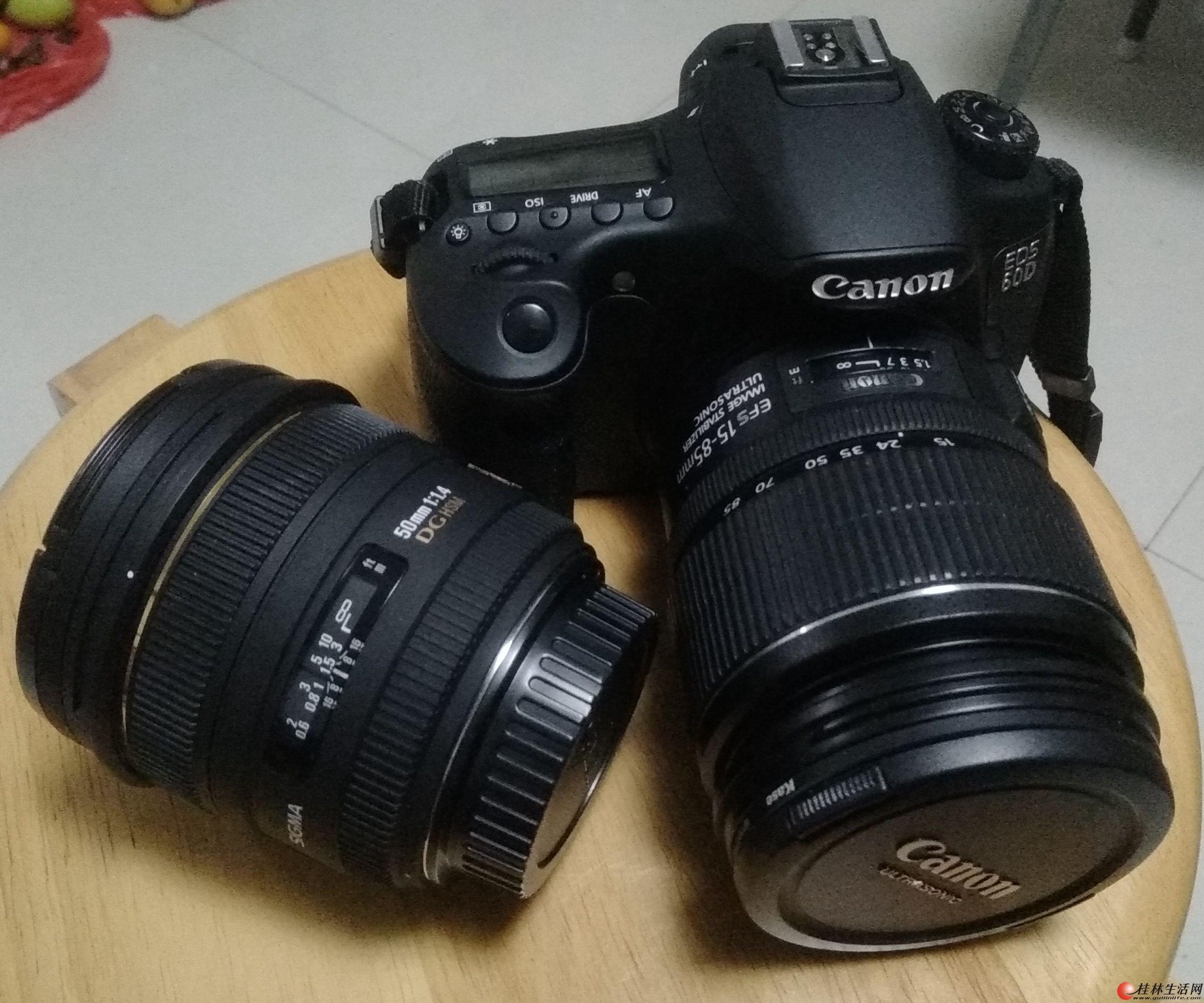 佳能双镜头中端单反高端配置数码相机60D