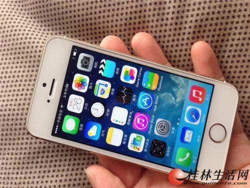 自用苹果5s16g,原装带指纹,土豪金,移动联通4G