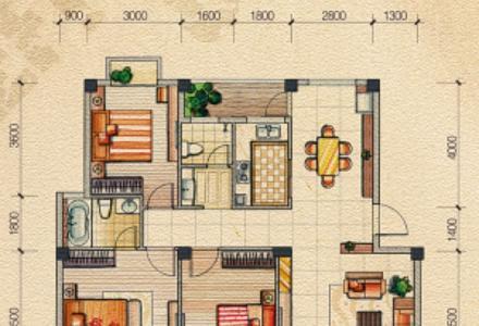 业主出售:奥林匹克花园环湖景观房(已装修)  3房2厅2卫116平米  75万