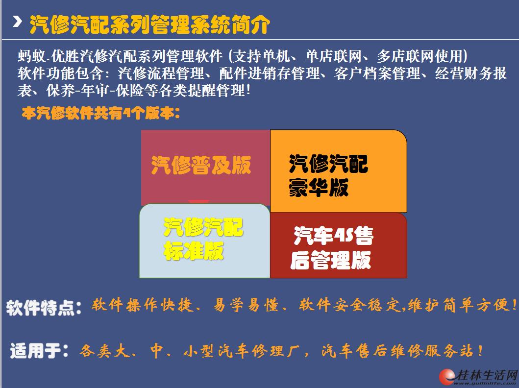 桂林汽修配件管理软件,桂林洗车美容会员软件,桂林汽修管理系统