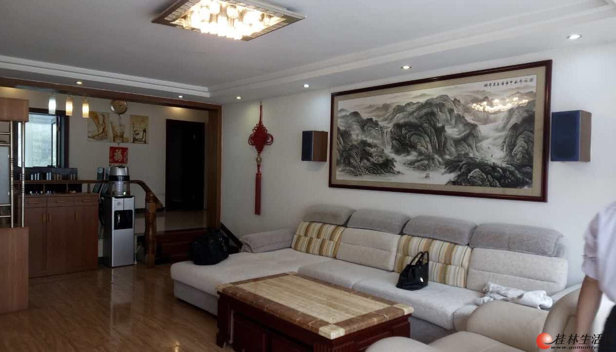 R安厦世纪城 漓江畔 132平4楼豪装95万 拎包即住 实木地板