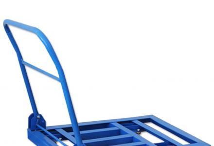 手推车塑料板车搬运车推拉小车仓库拉货车可折叠推车静音手拉车