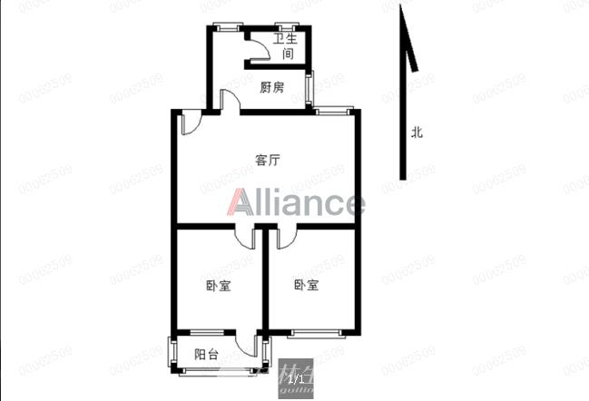 G售瓦窑同心园低层二房一厅带杂物间