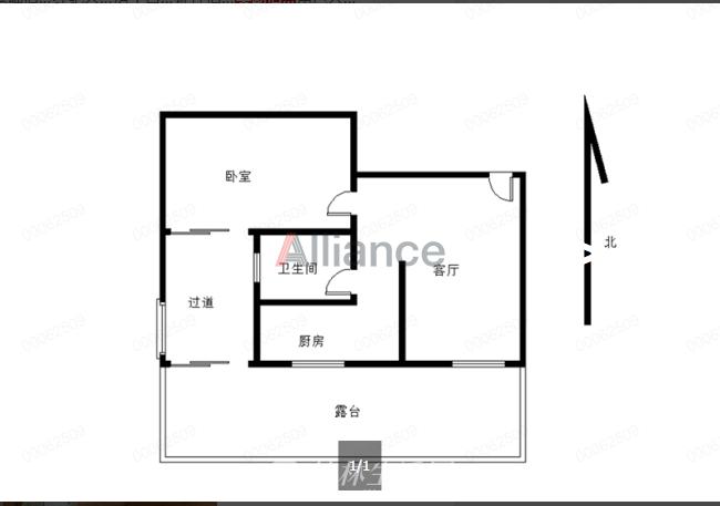 G红街安厦世纪城安怡园2楼一房一厅带大露台适合种花花草草