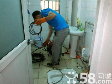 诚信专业管道疏通下水道马桶地漏菜池,吸粪清洗电话2135110