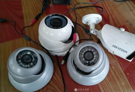 几个海康威视的模拟信号监控摄像头