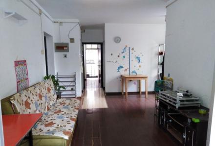 世纪花园小区东安街二楼大二房一厅双阳台和大露台家电家具全1500元月