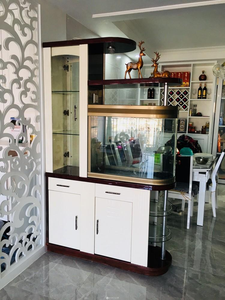客厅入户玄关柜带鱼缸酒柜屏风隔断柜隔厅柜双面鞋柜门厅装饰柜