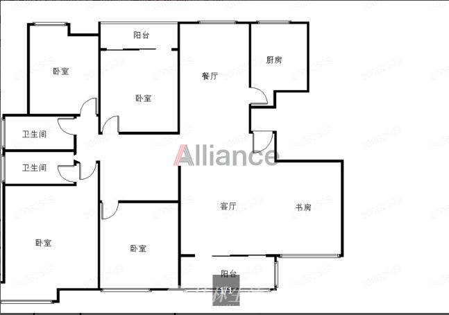 G漓江郡府一线江景房5房240平黄金8楼