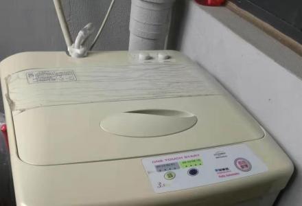 自用荣事达洗衣机,从没修过,非常安静有力