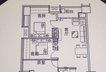 业主出租桂林高铁站恒大广场两房一厅