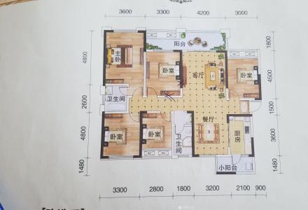 绝无仅有(户型最好用)的空中花园两层复式楼,超大的七字型露台,独立使用的天面