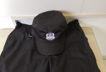 一套全新保安服加鞋子帽子