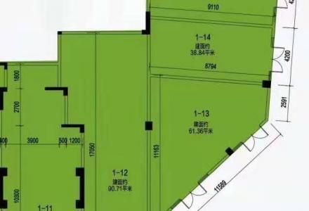 @七星万达广场对面 融创文旅城转角临街旺铺 预计租金150元/平 仅售320万