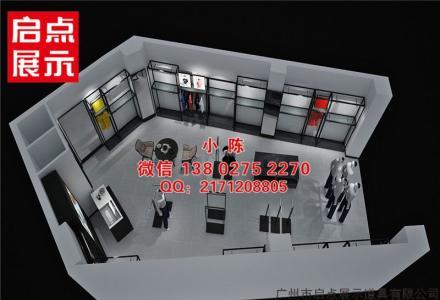 适合秋装的KM快时尚服装货架落地式烤漆展示架服装展示道具