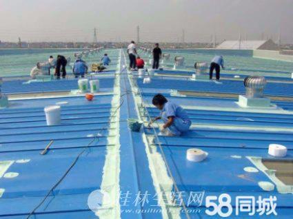 专业低价承接各类大面积防水,房屋屋顶防水,卫生间防水;补裂缝雨棚