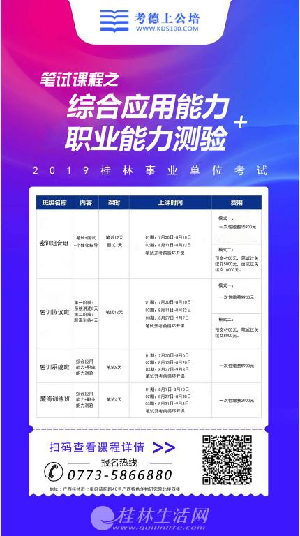 2019桂林事业单位招录考试辅导,首选桂林考德上!