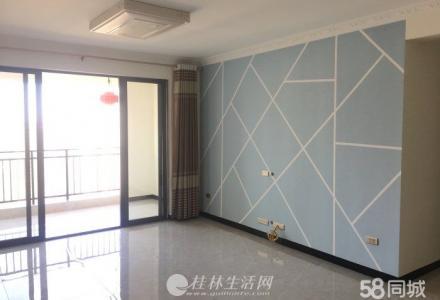 临桂花样年花样城112平新装修三房,72万送车位,江景房!