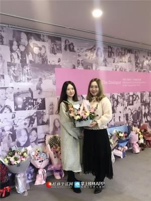 年初,白杨与从小玩到大的闺蜜韩雨对在桂林开办了合作画展——對·白