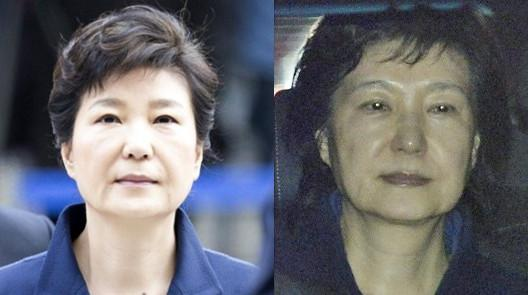 朴槿惠被捕前后对比