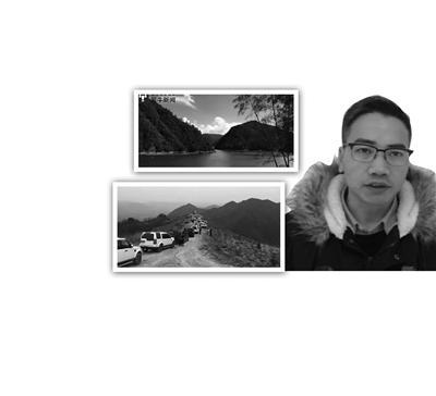 带头致富的周功斌自驾越野车车队。浙西川藏线沿途湖山的美丽风光。