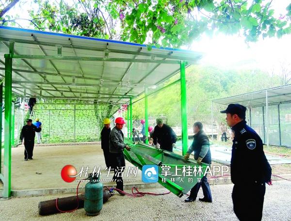 桂林漓江风景名胜区两处违法设施被依法拆除(图)