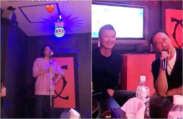 谢霆锋王菲为陈奕迅老婆庆生。