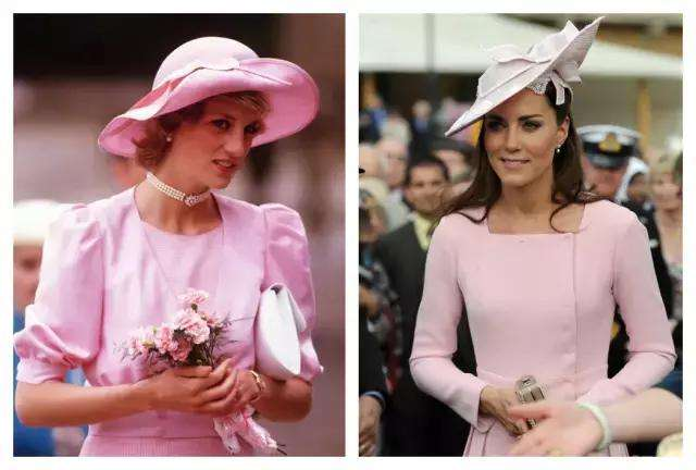 戴安娜王妃(左)、凯特王妃(右)