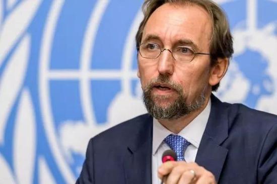 ▲联合国人权事务高级专员扎伊德·侯赛因