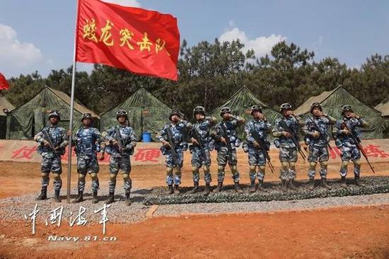 中国海军蛟龙突击队。