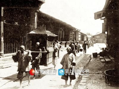 1898年的桂林街头。摄影:班尼斯特 ?