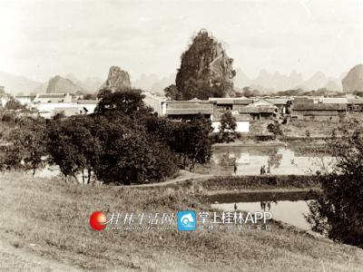 1898年的独秀峰。摄影:班尼斯特 ?