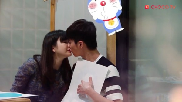 福原爱、江宏杰亲吻