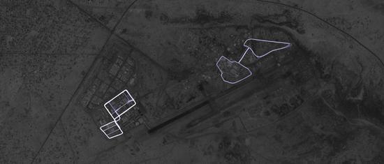 """用脚""""画""""出来的军事机密 本文图片均来自荷兰媒体De Correspondent"""