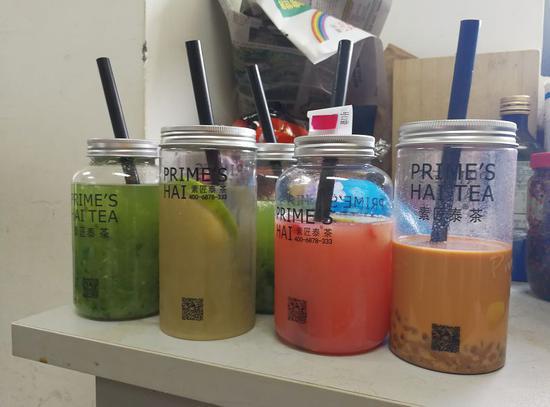 8月9日,小杨和同事们点的饮品