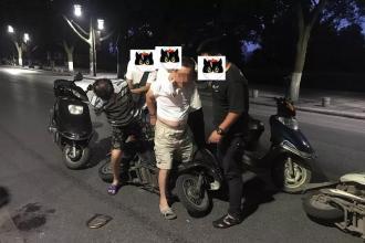 三名偷车贼掉网
