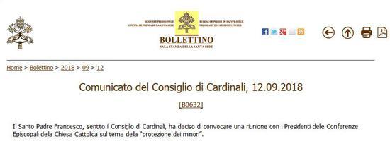 梵蒂冈网站截图