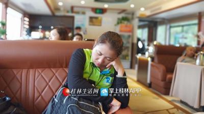 在游客们出游的时候小小休息一会儿。