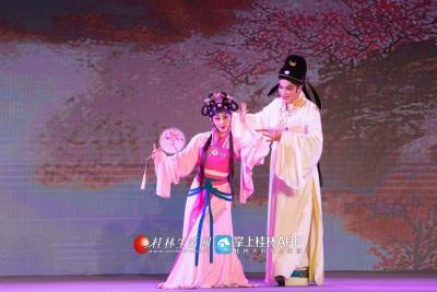 桂剧经典剧目《人面桃花》讲述的是一对青年男女一见钟情的爱情故事。
