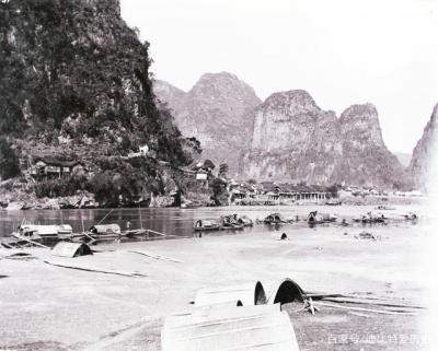 清末民初,漓江风景。